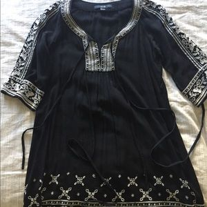 forever 21 Black Embroidered Tunic size S/P